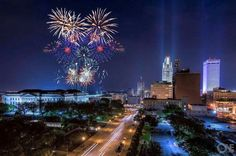 Downtown Omaha on the 4th of July