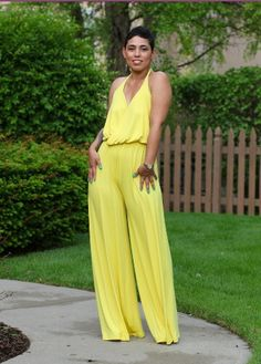 44af088856 Cure halter jumpsuit! White Jumpsuits And Rompers
