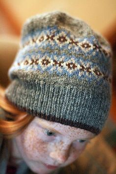 """Another beautiful version of the Seasons Hat! Knitted by Ravelry user """"jenleigh""""; pattern/design by Jared Flood nice colour combi Knitting Designs, Knitting Stitches, Knitting Patterns Free, Knit Patterns, Knitting Projects, Knitting For Kids, Baby Knitting, Knit Crochet, Crochet Hats"""