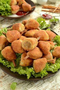 Oszukane przepiórcze udka Sweet Potato, Potato Salad, Potatoes, Chicken, Meat, Vegetables, Pierogi, Cooking, Ethnic Recipes