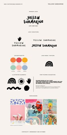 Brand Identity Design, Graphic Design Branding, Typography Design, Kids Graphic Design, Typography Logo, Brand Design, Branding Kit, Kids Branding, Colorful Branding