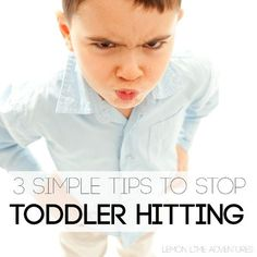 Really helpful tips for how to stop a toddler from hitting!
