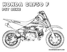 honda bike coloring page free bikes coloring pages