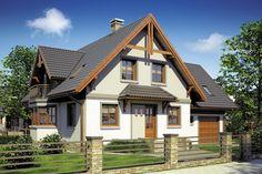 Wizualizacja Mój Dom Tapien CE Home Fashion, House Design, Cabin, House Styles, Houses, Home Decor, House Beautiful, Beautiful Homes, Farm Cottage
