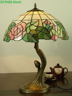 Rose Tiffany Lamp 16S0-117T215