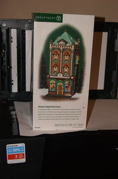 """Dept 56 Christmas in the City """" Seasons Department Store"""" New in Box not Removed Christmas In The City, Department Store, Stores, Seasons, Shape, Box, Snare Drum, Seasons Of The Year"""