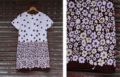 VIntage White 60s Flower Printed Dress by vicandlily on Etsy, $22.00
