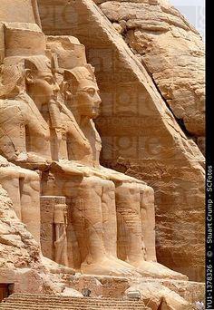 Temple of Ramesses II, Abu Simbel, West Bank of Lake Nasser, Southern Egypt