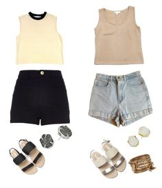 """""""Banana Pudding"""" by plumbri on Polyvore featuring beauty, St. John, American Apparel, River Island, ALDO and Kendra Scott"""
