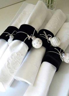 diy napkins   DIY Christmas Napkin Rings