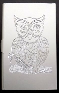 Mama Owl Bird NEW Engraved Business Credit Card Case Patch Holder Gift BUS-0048