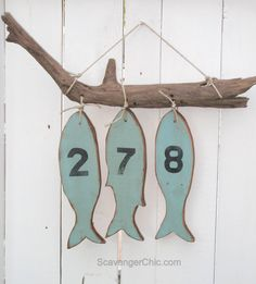 One fish, two fish...house numbers - Scavenger Chic