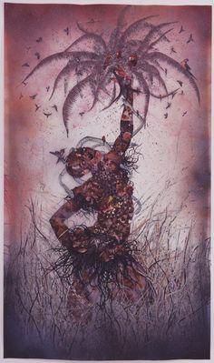 "dynamicafrica: "" EVENT: Wangechi Mutu at the Brooklyn Museum. Now based in Brooklyn, New York, Kenyan artist Wangechi Mutu's first survey in the United States Wangechi Mutu: A Fantastic Journey,. African American Artist, American Artists, African Art, Feminist Art, Savage, Art Museum, Science Fiction, Contemporary Art, Illustration Art"
