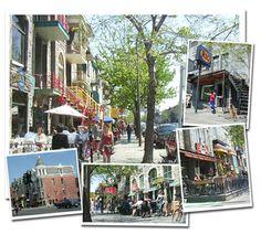 La Rue St-Denis a Montreal