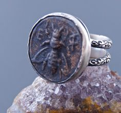 A personal favorite from my Etsy shop https://www.etsy.com/listing/246819752/ancient-coin-ring-ephesus-bee-925