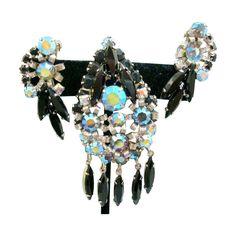 Vintage DeLizza & Elster/Juliana pin/earrings set