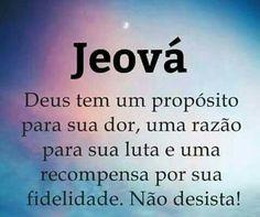 Jeová tem um propósito para sua dor, uma razão para sua luta e uma recompensa por sua fidelidade. Não desista!