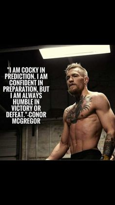 Just when defeat was inevitable, he came out of that situation. He didn't brag or let his ego take over but instead he displayed a humble success. I admire this man. Conor McGregor MMA UFC