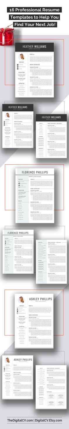 DigitalCVEtsy u003e Creative and clean resume template with - making resume in word