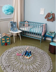 I want to crochet this doily rug. Stat.