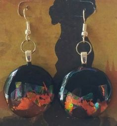 Beautiful.....Mysterious  Dichroic Fused Glass Earrings...Handmade by DICHROICCLASSYGLASS on Etsy