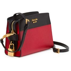 39fb76528b1d Prada Bicolor Leather Camera Crossbody Bag ( 1