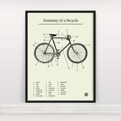 Anatomy of a Bicycle - http://www.differentdesign.it/2013/09/20/anatomy-of-a-bicycle/
