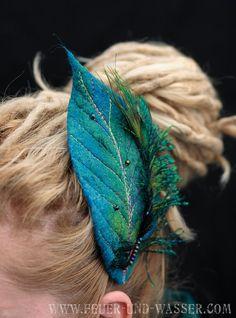 Hair accessories . Handmade felt headpiece in many colors  Felted by FeuerUndWasser