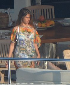 Sail away: Last week, Lionel and Antonella were seen sailing around the island of Capri...