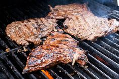 I didn't grow up eating carne asada. It wasn't something my mom made at home. The first time I ate carne asada--as an event--was on a cam. Grilling Recipes, Meat Recipes, Mexican Food Recipes, Cooking Recipes, Healthy Recipes, Healthy Food, Weekender, Good Food, Yummy Food