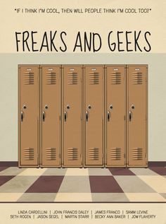 Freaks and Geeks Minimalist Poster by MinimalistPosterShop on Etsy https://www.etsy.com/listing/254020005/freaks-and-geeks-minimalist-poster