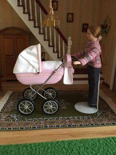 Kinderwagen Für Die Puppenstube Maßstab 1:10 in Spielzeug, Puppenstuben & -häuser, Puppen | eBay!