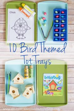 Bird Themed Tot School - 10 Bird Themed Tot Trays | #TotSchool #TotTrays #Toddler