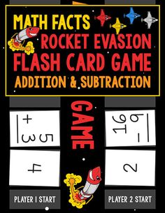 The Math Facts Rocket Evasion Flash Card Game: Addition & Subtraction gives children an opportunity to practice math facts in fun ways.