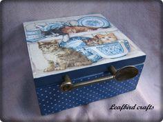 ecco i ciatti! Tea Box, Scrapbooks, Decoupage, Decorative Boxes, Crafts, Home Decor, Boxes, Manualidades, Decoration Home
