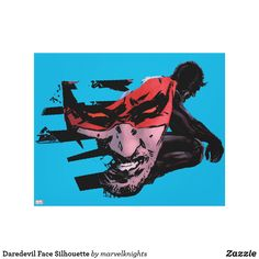 Bright and cool Marvel Daredevil superhero designs to personalize as a gift for yourself, friends and families. Perfect unique gifts for your all birthdays needs. Comic Book Heroes, Comic Books, Marvel Canvas, Superhero Design, Marvel Comics Art, Panel Wall Art, Daredevil, Comic Art, Silhouette