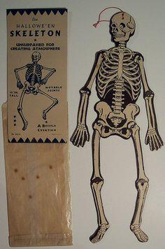 Vintage Halloween Skeleton Diecut mip Beistle | Flickr - Photo Sharing!