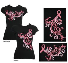 Breast Cancer Awareness: I like how subtle these T Shirts are