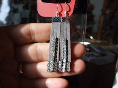 Unique fashionable fringe dangle earrings made of by creatodame