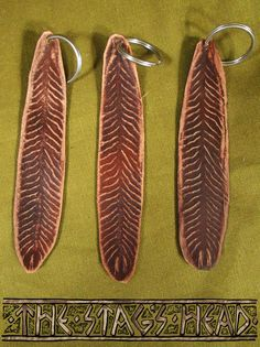Leather New Zealand Fantail Feather Keyring by TheStagsHeadStudio - Native New Zealand Bird, NZ Art