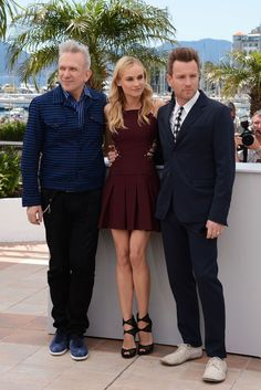 Part of CFF 2012 jury, L'Enfant Terrible Jean-Paul Gaultier, Diane Kruger & Ewan McGregor - Cannes Jury Photocall