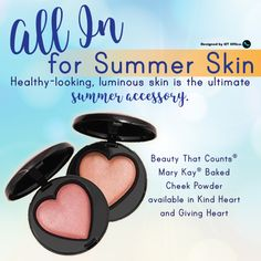 Beauty That Counts® Mary Kay® Baked Cheek Powder benefits The Mary Kay FoundationSM, including its support of women's shelters and survivors of domestic abuse. Summer Skin, Summer Glow, Makeup Trends 2017, Selling Mary Kay, Mary Kay Ash, Mary Kay Cosmetics, Beauty Consultant, Mary Kay Makeup, Summer Makeup
