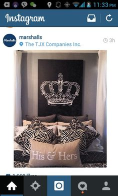 Love this his and hers bedroom #KingandQueen