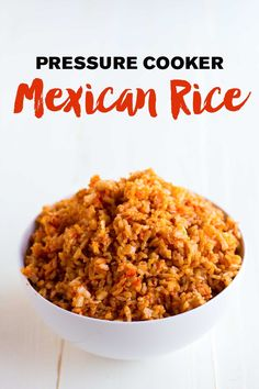 Pressure Cooker Mexican Rice - http://eatwithinyourmeans.com/pressure-cooker-mexican-rice/?utm_campaign=coschedule&utm_source=pinterest&utm_medium=Beth%20Hornback%20%7C%20Eat%20Within%20Your%20Means&utm_content=Pressure%20Cooker%20Mexican%20Rice