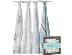 Aden + Anais swaddle blanket, $32 for 2, AdenandAnais.com; or Summer Infant SwaddleMe, $13, BabiesRUs.com