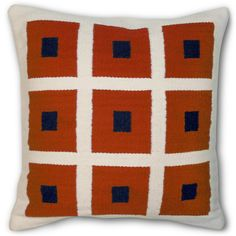 Jonathan Adler Peter Pillow Navy And Orange in All Pillows & Throws