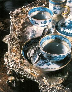 Afternoon tea, silver tray