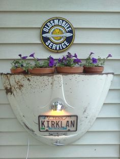 Lighted VW Hood Planter