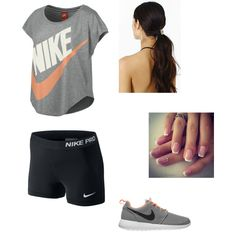 """""""Cute Athletic Outfit (:"""" by ayeeitsfaith on Polyvore http://www.polyvore.com/cute_athletic_outfit/set?id=114726574"""
