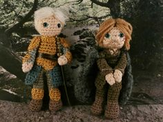 Prisoner Jaime Lannister and Brienne of Tarth Game of thrones amigurumi Moñacos, cosicas y meriendacenas